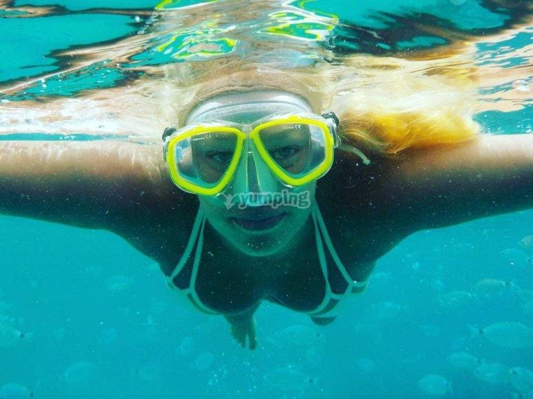 Sesion de snorkel