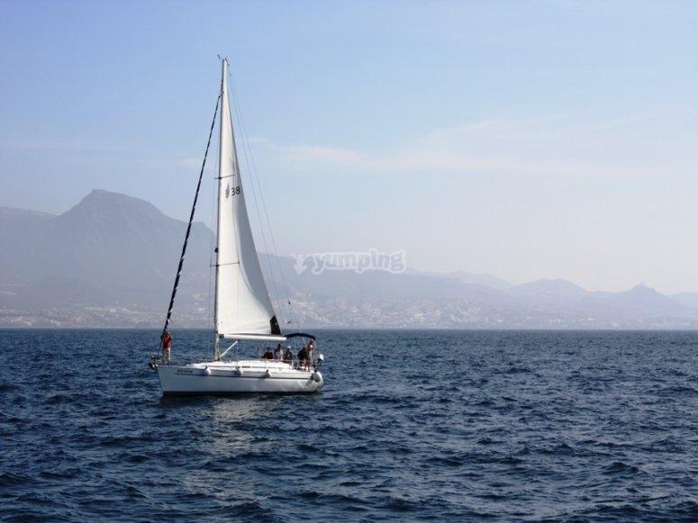 Ruta marítima en velero
