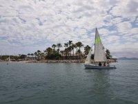 Child sailing class in Mallorca