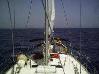 男子帆船的海上航线