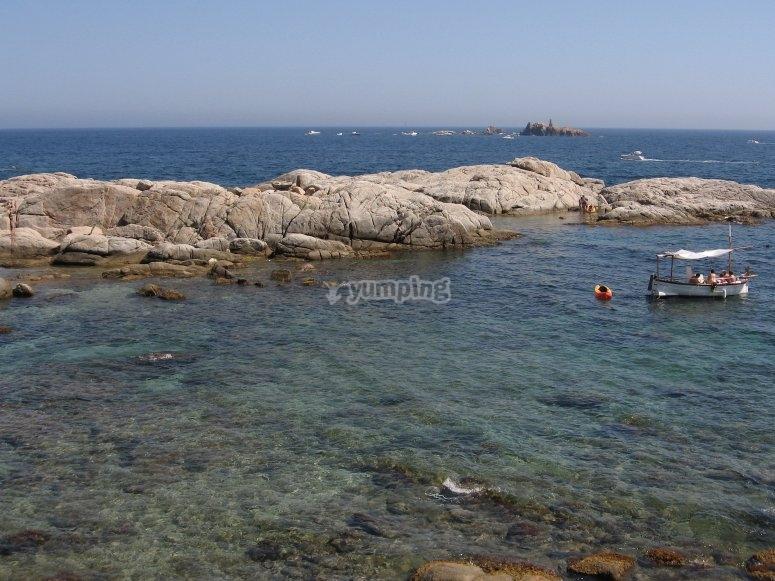 海滩formigues岛屿