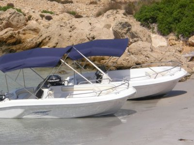 Motorboat rental without license Vilagarcía 4hrs