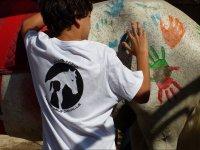 Pintando sobre el caballo