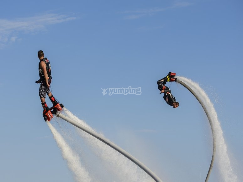 Flyboard spins