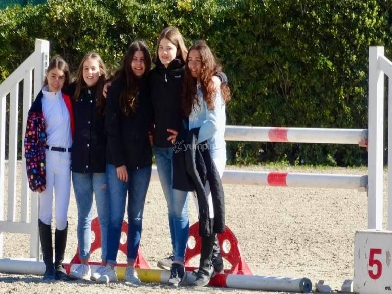 Alumnas de equitación