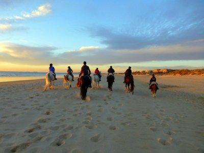 Paseo a caballo por la playa de la Barrosa