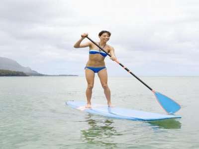 Paddle surfing in Cabo de Gata