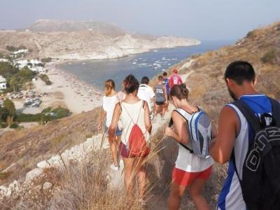 在Cabo de Gata自然公园徒步旅行