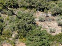 标志埃斯利达Aventura的享受tirolina一种自然景观