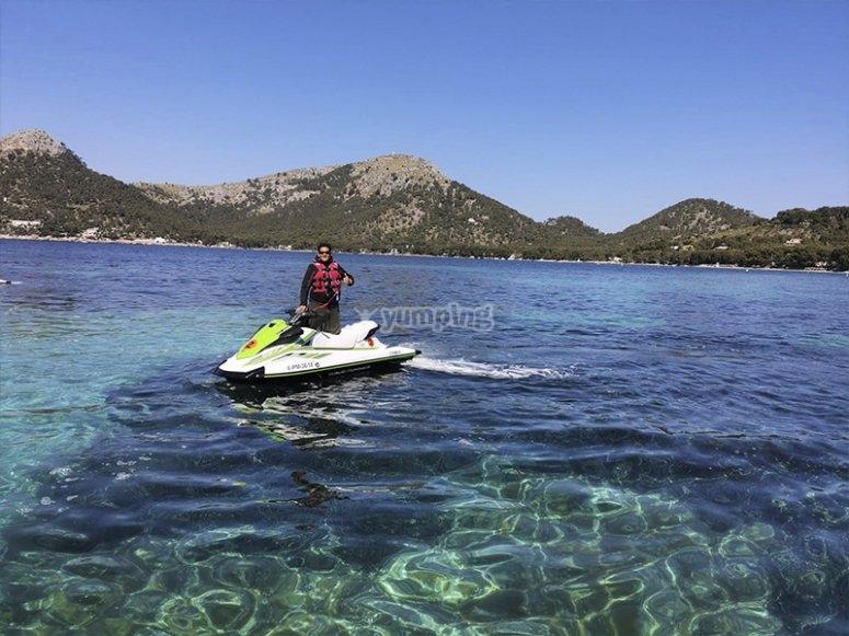 Paseo en moto de agua por Mallorca