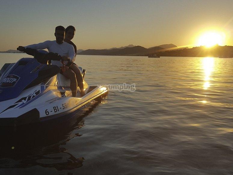 Excursión en moto de agua biplaza por Alcudia