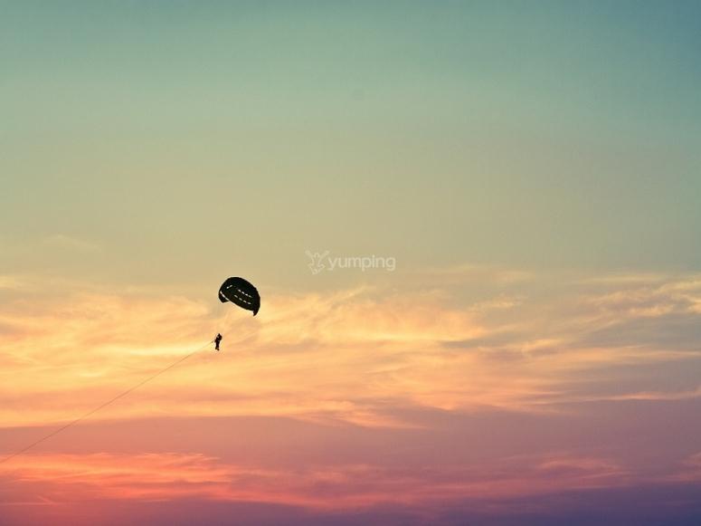 Parapente y el cielo