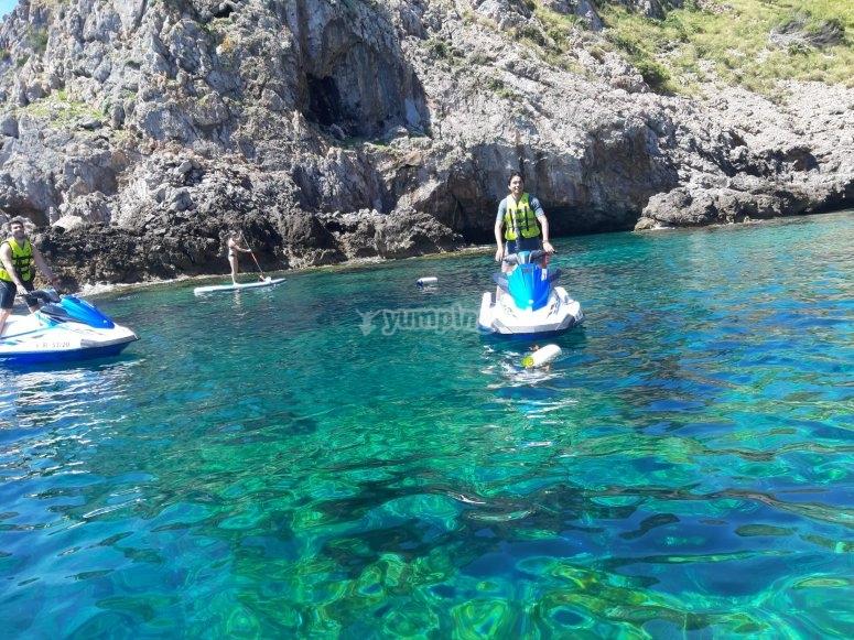 Excursión en moto de agua en Mallorca