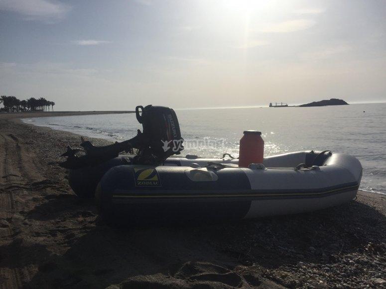 Embarcación en alquiler sin titulación Almería