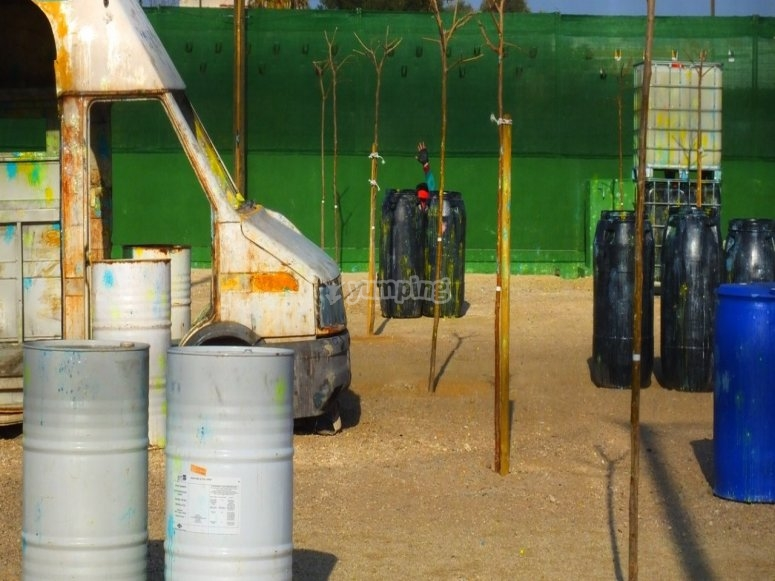 Circuito de paintball en Gandía