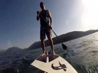 Paddle surfing in Catalonia