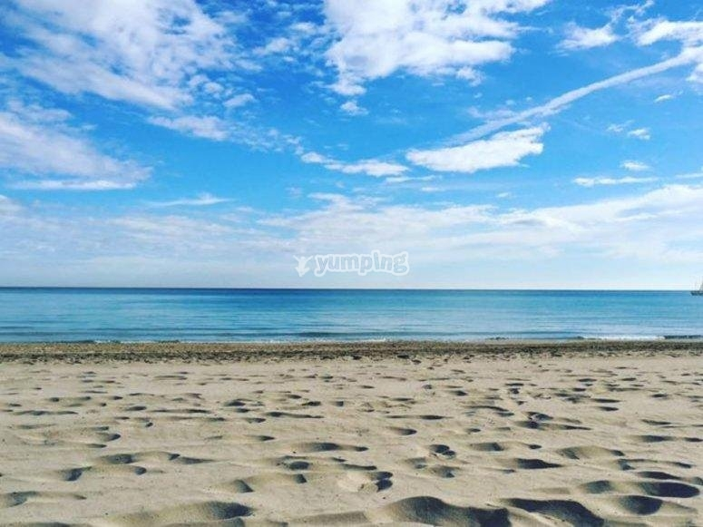 Arena de las playas alicantinas