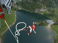 Bungee jumping to the river