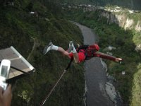 Bungee jumping with final bath