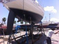 arreglando barco