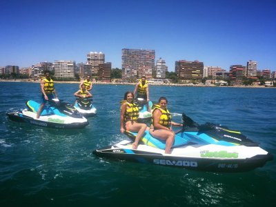 Tour on a Jet-Ski of Alicante and Postiguet 30 min