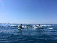 Recorriendo el Mediterráneo alicantino en moto de agua