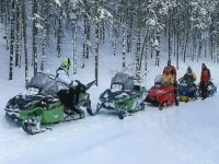 Excursion en motos de nieve