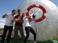 充气球太空球太空球球滚动
