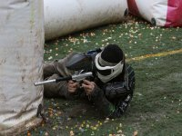 Defending the position in Paintball