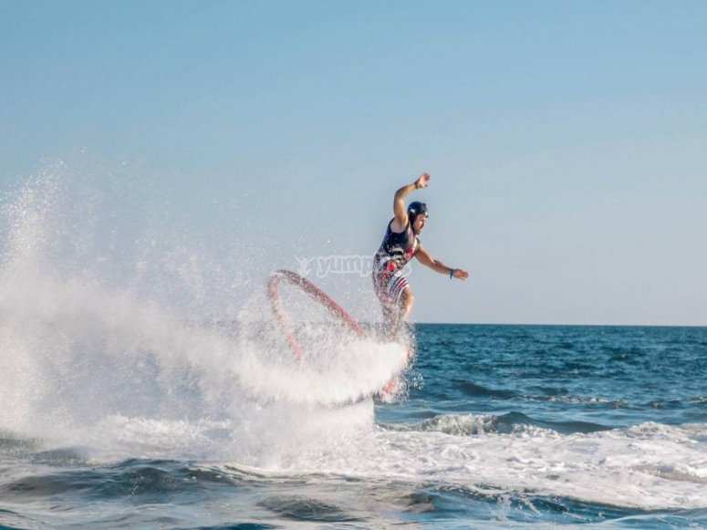 Adrenaline boost while flyboarding