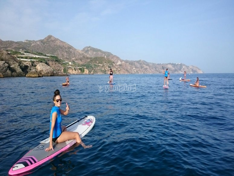 Divirtiendonos en paddle surf