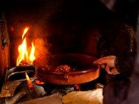 Cocinando en cazuela de barro
