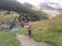 Zip-lines and obstacles for children