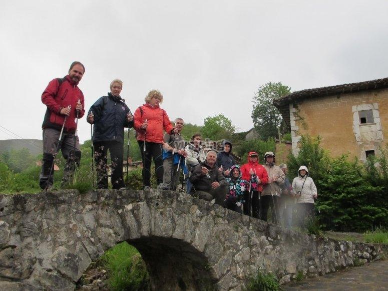 Nordic walking sobre el puente