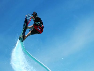 Jetovator en Sant Andreu Llavanares con Hoverboard