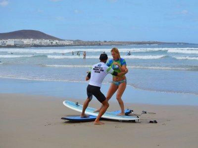 Lezione di surf con tutor privato a Teguise