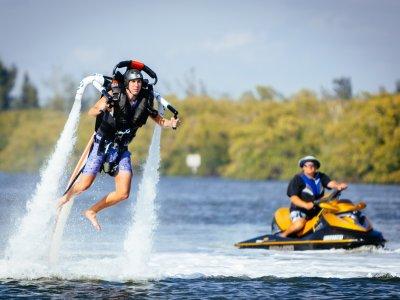 Probar el jet pack en la isla de Menorca 1 hora
