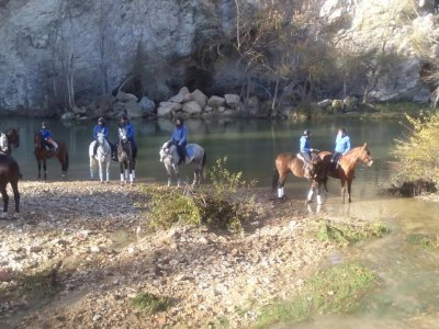 Horse Riding Class 1/2 h + 1 h Tour in Acedo,