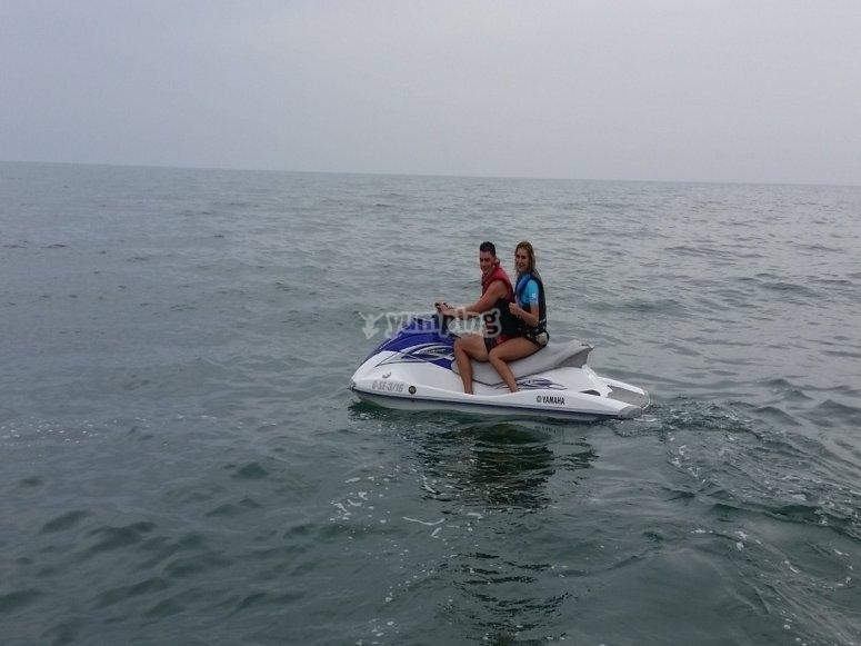 Ruta en moto de agua en Chipiona