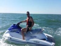 Ruta guiada en moto de agua en Chipiona 1 hora
