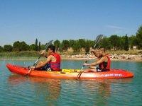 Ruta en Kayak biplaza en La Estanca Bajo Aragón