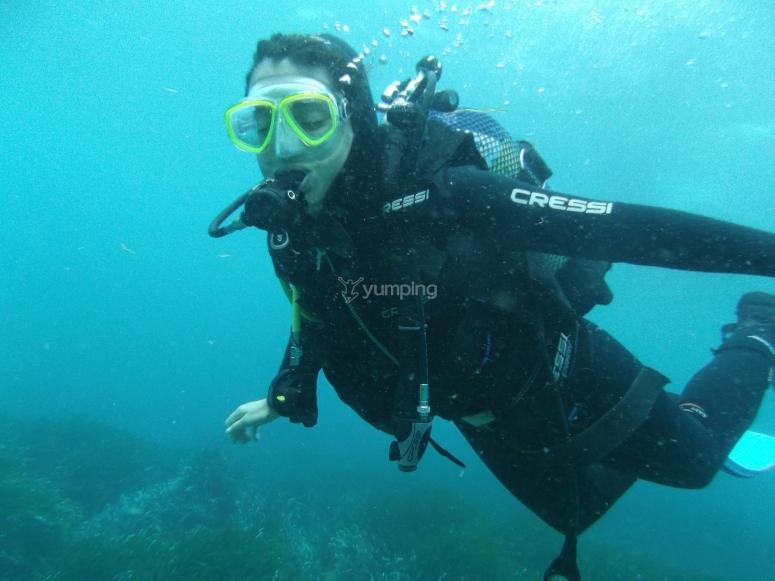 Goditi sotto il mare
