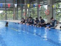 Iniciacion al buceo en la piscina