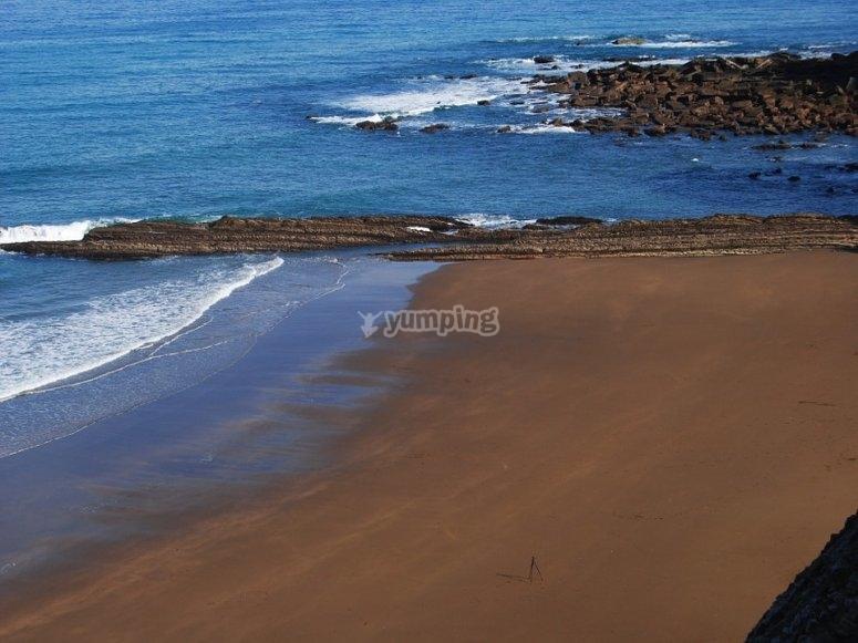 巴斯克地区的海滩