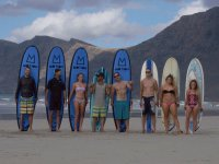 Students with surf boards