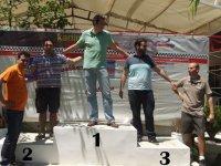 En el podium