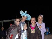 Fiesta de disfraces en el campamento