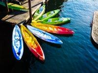 los kayaks preparados