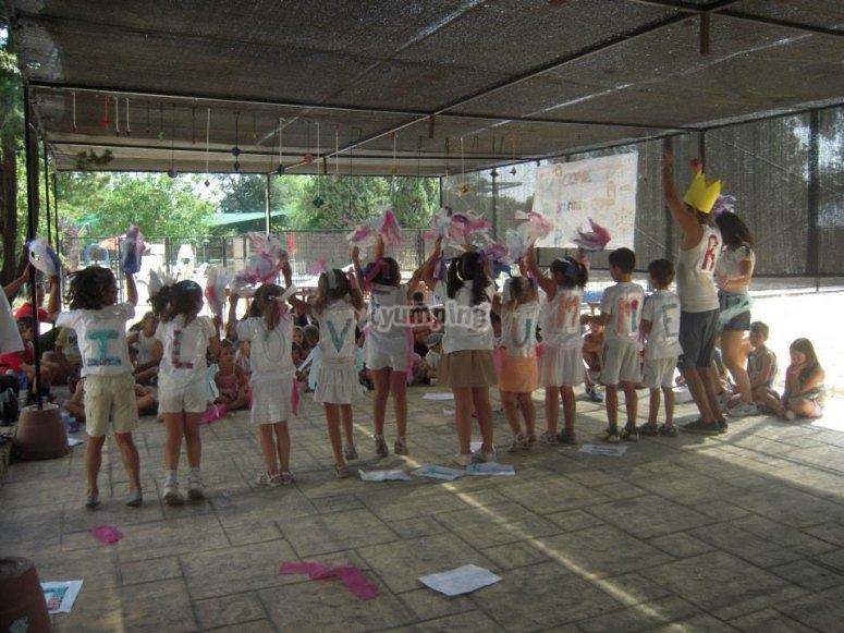 Festa nel campo di Madrid