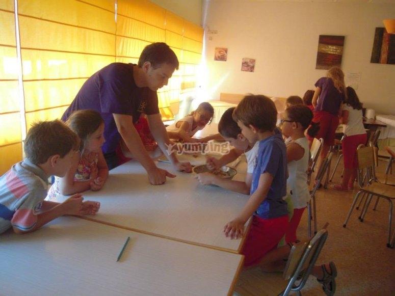 Workshop nel campo di Madrid